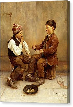 Pick A Hand, 1889 Canvas Print