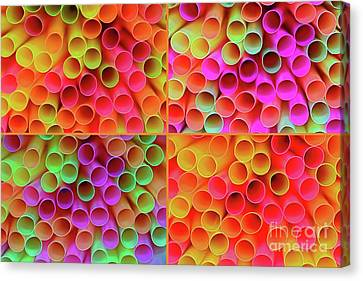 Canvas Print featuring the photograph Pick A Straw By Kaye Menner by Kaye Menner