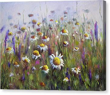 Pick Me A Bouquet Canvas Print by Karen Margulis