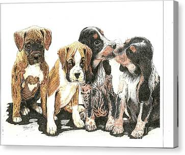 Pick Of The Litter Canvas Print by Bill Hubbard