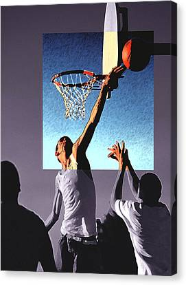 Pick Up Game Canvas Print by Gerard Fritz