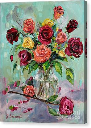 Canvas Print featuring the painting Picked For You by Jennifer Beaudet