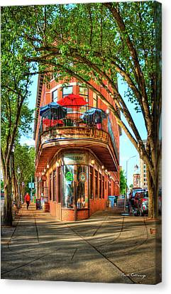 Burger Canvas Print - Pickel Barrel 2 Chattanooga Tennessee Cityscape Art by Reid Callaway
