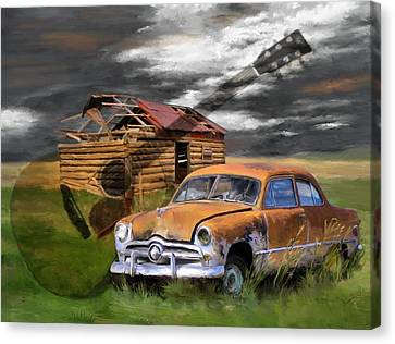 Pickin Out Yesterday Canvas Print by Susan Kinney
