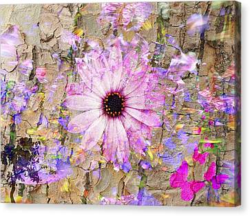 Canvas Print featuring the photograph Pickin Wildflowers by Amanda Eberly-Kudamik