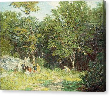 Picking Flowers Canvas Print by Edward Henry Potthast