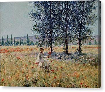 Picking Flowers  Canvas Print