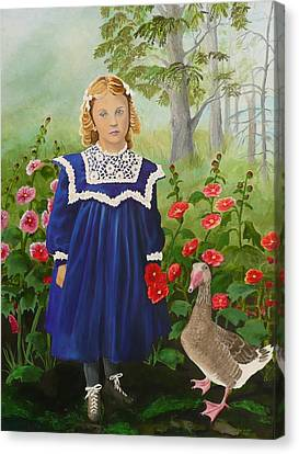 Picking Flowers Canvas Print by Virginia Sincler