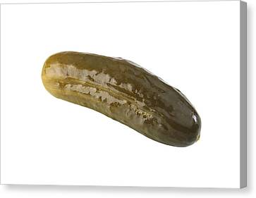 Sour Canvas Print - Pickle by Michael Ledray