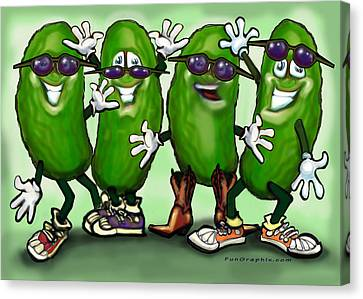 Pickle Party Canvas Print by Kevin Middleton