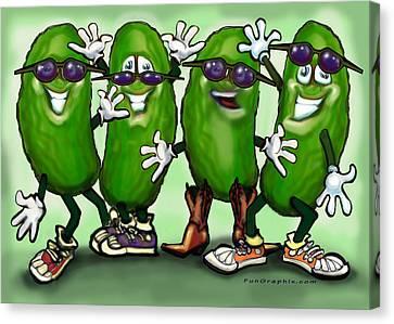 Pickle Party Canvas Print