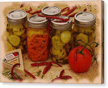 Pickled Still Life Canvas Print