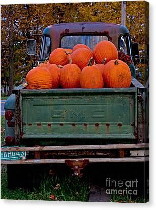 Canvas Print - Pickup My Pumpkins by April Bielefeldt