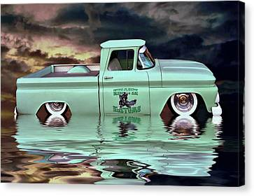 Pickup Reflections Canvas Print by Steven Agius