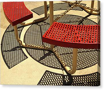 Picnic Bench Abstract 1 Canvas Print