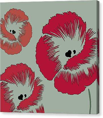 Picnic Poppy Canvas Print