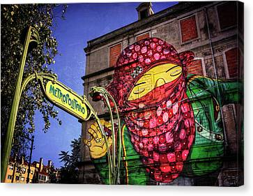 Graffiti Canvas Print - Picoas Metro Station Lisbon by Carol Japp