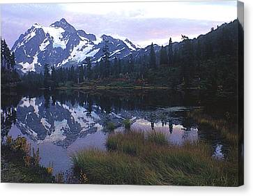 Picture Lake - Mt. Shuksan Canvas Print by Todd Kreuter