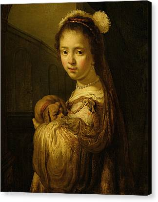 Picture Of A Young Girl Canvas Print