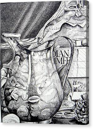 Picture Of Pitcher Canvas Print by Linda Shackelford