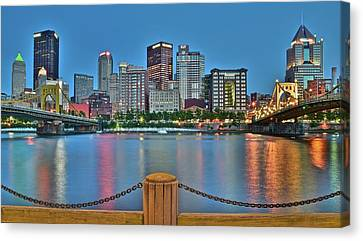 Picture Perfect Pittsburgh Canvas Print by Frozen in Time Fine Art Photography