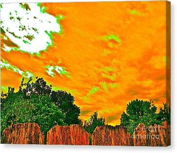 Picture Yourself Tangerine Sky Canvas Print