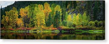 Canvas Print featuring the photograph Picturesque Tumwater Canyon by Dan Mihai