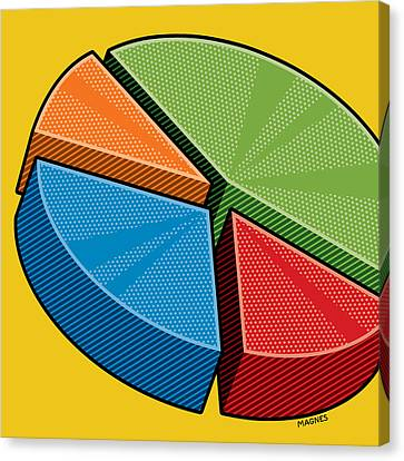 Canvas Print featuring the digital art Pie Chart by Ron Magnes