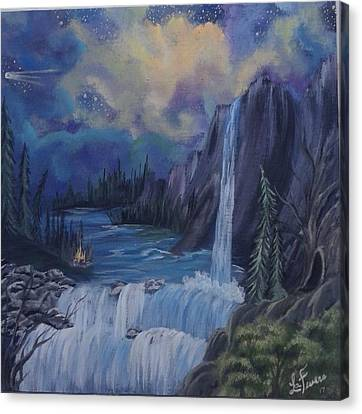 Bob Ross Canvas Print - Piece Of Mind by Lori Lafevers