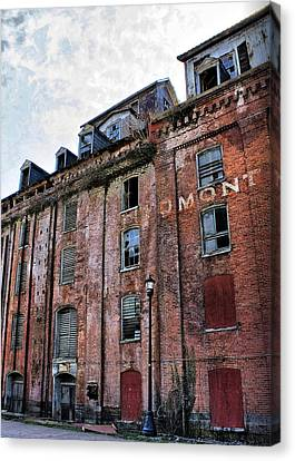 Canvas Print featuring the photograph Piedmont Mill by Alan Raasch