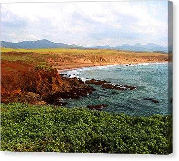 Canvas Print featuring the digital art Piedras Blancas I by Timothy Bulone