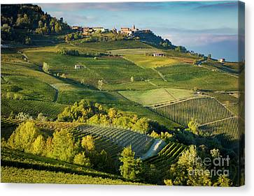 Canvas Print featuring the photograph Piemonte Countryside by Brian Jannsen