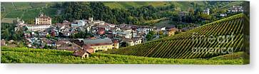 Canvas Print featuring the photograph Piemonte Panoramic by Brian Jannsen