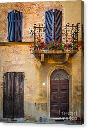 Pienza Balcony Canvas Print