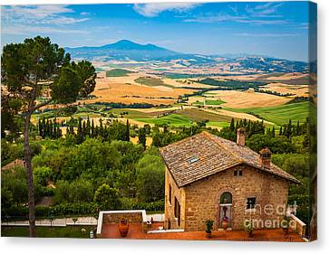 Tuscan Hills Canvas Print - Pienza Landscape by Inge Johnsson