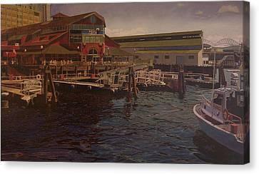 Pier 55 - Red Robin Canvas Print