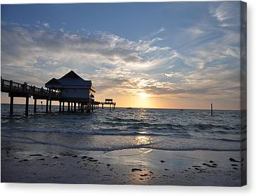 Pier 60 At Clearwater Beach Florida Canvas Print by Bill Cannon