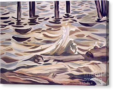 Pier At Granthams Landing Canvas Print