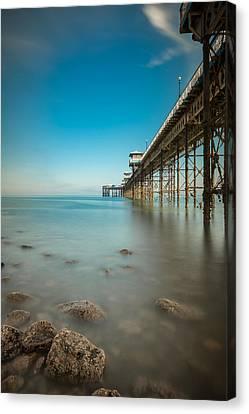 Pier At Llandudno, North Wales Canvas Print by Andy Astbury