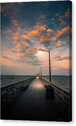 Pier Lights Canvas Print by Marvin Spates