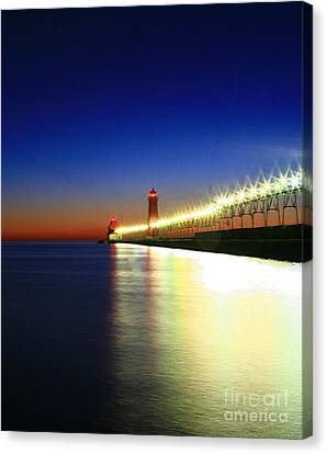 Pier Reflection Canvas Print by Robert Pearson