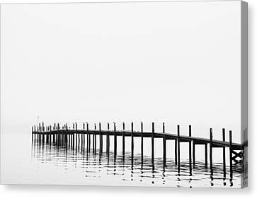 Pier Canvas Print by Skip Nall