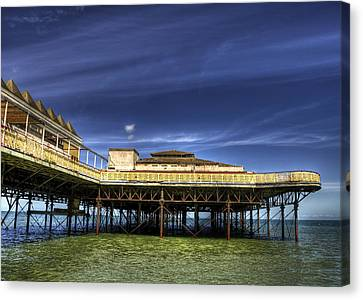 Pier Structure Canvas Print by Svetlana Sewell