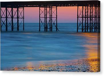 Pier Supports At Sunset I Canvas Print
