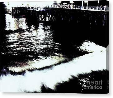 Canvas Print featuring the photograph Pier by Vanessa Palomino