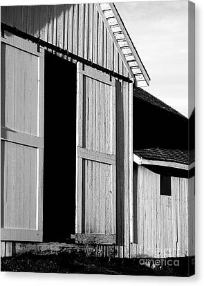 Pierce Point Ranch 16 . Bw Canvas Print by Wingsdomain Art and Photography