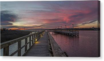Piering Into Serenity  Canvas Print by Betsy Knapp