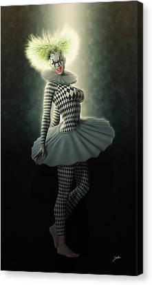 Pierrette Diva Canvas Print by Joaquin Abella