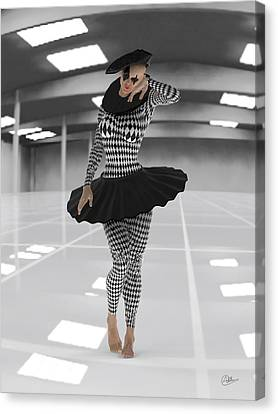 Pierrette On Parking Canvas Print by Quim Abella
