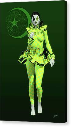 Pierrette Y La Luna Verde Canvas Print